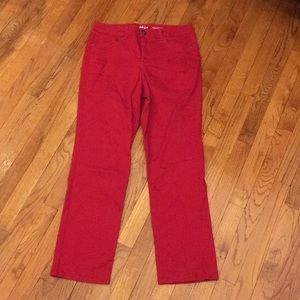 Women's red straight leg pants
